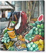 Caribbean Market Day Acrylic Print by Karin  Dawn Kelshall- Best