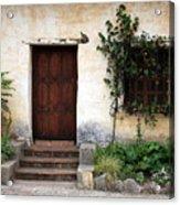 Carmel Mission Door Acrylic Print by Carol Groenen