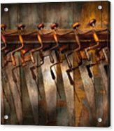 Carpenter  - Saws And Braces  Acrylic Print by Mike Savad