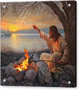 Cast Your Nets On The Right Side Acrylic Print by Greg Olsen