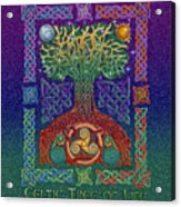 Celtic Tree Of Life Acrylic Print by Kristen Fox