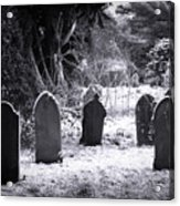 Cemetery And Snow Acrylic Print by Jane Rix
