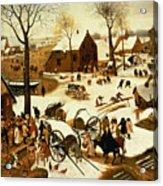 Census At Bethlehem Acrylic Print by Pieter the Elder Bruegel