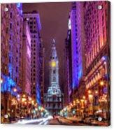 Center City Philadelphia Acrylic Print by Eric Bowers Photo