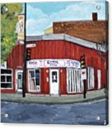 Centre Pizza Verdun Acrylic Print by Reb Frost