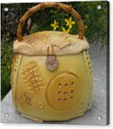Ceramic Container With Lid Acrylic Print by Christine Belt