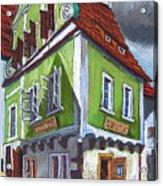 Cesky Krumlov Old Street 3 Acrylic Print by Yuriy  Shevchuk