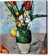 Cezanne: Tulips, 1890-92 Acrylic Print by Granger