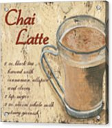 Chai Latte Acrylic Print by Debbie DeWitt