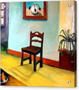 Chair And Pears Interior Acrylic Print by Michelle Calkins