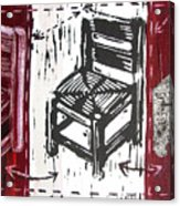 Chair V Acrylic Print by Peter Allan