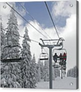 Chairlift At Vail Resort - Colorado Acrylic Print by Brendan Reals