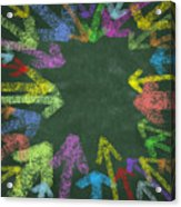 Chalk Drawing Colorful Arrows Acrylic Print by Setsiri Silapasuwanchai