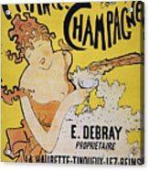 Champagne Poster, 1891 Acrylic Print by Granger