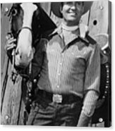 Champion And Gene Autry Acrylic Print by Everett