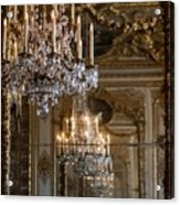 Chandelier At Versailles Acrylic Print by Georgia Fowler