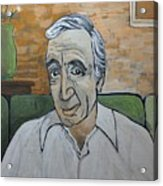 Charles Aznavour Acrylic Print by Reb Frost