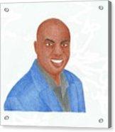 Charles Barkley  Acrylic Print by Toni Jaso