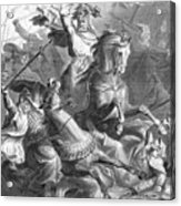Charles Martel, Battle Of Tours, 732 Acrylic Print by Photo Researchers