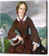 Charlotte Bronte 1816-1855 English Acrylic Print by Everett