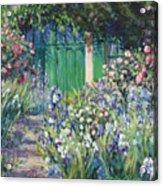 Charmed Entry - Monet Acrylic Print by L Diane Johnson