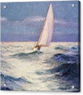 Chas Marer - Sailboat Acrylic Print by Hawaiian Legacy Archive - Printscapes