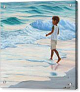 Chasing The Waves Acrylic Print by Lea Novak