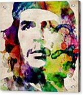 Che Guevara Urban Watercolor Acrylic Print by Michael Tompsett