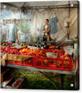 Chef - Vegetable - Jersey Fresh Farmers Market Acrylic Print by Mike Savad