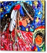 Cherokee Trail Of Tears Mother And Child Acrylic Print by Laura  Grisham