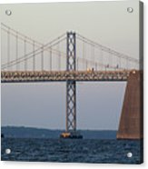 Chesapeake Bay Bridge - Maryland Acrylic Print by Brendan Reals