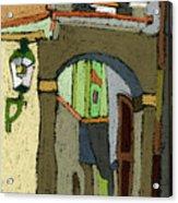 Chesky Krumlov Old Street Latran  Acrylic Print by Yuriy  Shevchuk