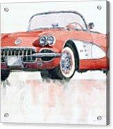 Chevrolet Corvette C1 1960  Acrylic Print by Yuriy  Shevchuk