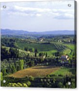Chianti Region In Italy Acrylic Print by Gregory Ochocki and Photo Researchers