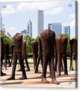 Chicago Agora Headless Statues Acrylic Print by Paul Velgos
