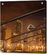 Chicago At Night Acrylic Print by Andreas Freund