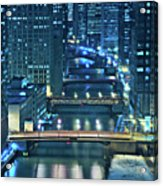 Chicago Bridges Acrylic Print by Steve Gadomski