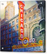 Chicago Theater Acrylic Print by Michael Durst