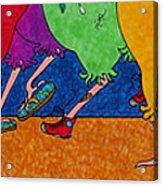 Chicken Walk Acrylic Print by Michele Sleight