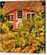 Children - The Children's Cottage Acrylic Print by Mike Savad