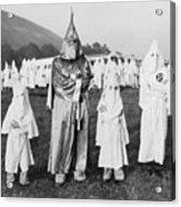 Children In Ku Klux Klan Costumes Pose Acrylic Print by Everett