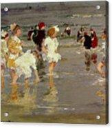 Children On The Beach Acrylic Print by Edward Henry Potthast