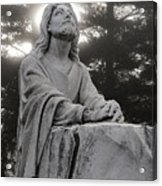 Christ At Prayer Acrylic Print by Robert  Suits Jr