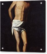Christ Bound To The Column Acrylic Print by Alonso Cano