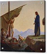 Christ Calling The Apostles James And John Acrylic Print by Edward Armitage