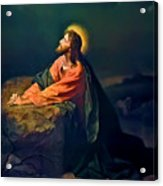 Christ In Garden Of Gethsemane Acrylic Print by Heinrich Hofmann