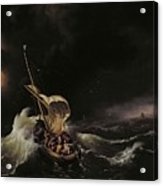 Christ In The Storm On The Sea Of Galilee Acrylic Print by Ludolph Backhuysen