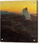 Christ In The Wilderness Acrylic Print by Briton Riviere
