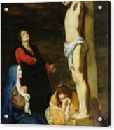 Christ On The Cross Acrylic Print by Gerard de Lairesse