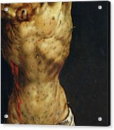 Christ On The Cross Acrylic Print by Matthias Grunewald